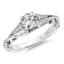 Valina Round Side Stone Engagement Ring RQ9421W