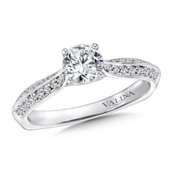 Valina Round Side Stone Engagement Ring RQ9422W