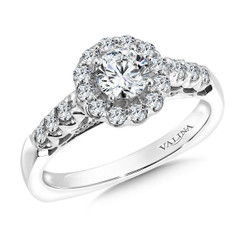 Valina Round Halo Engagement Ring RQ9446W