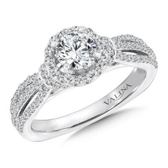 Valina Round Halo Engagement Ring RQ9447W