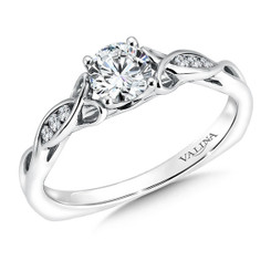 Valina Round Side Stone Engagement Ring RQ9448W