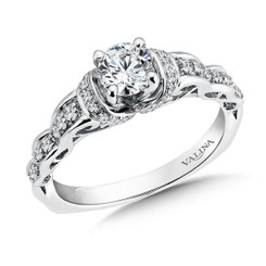 Valina Round Side Stone Engagement Ring RQ9471W