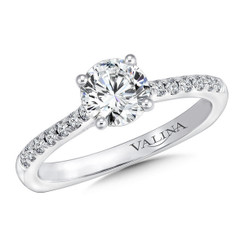 Valina Round Straight Engagement Ring R9627W