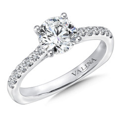 Valina Round Straight Engagement Ring R9628W