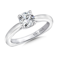 Valina Round Solitaire Engagement Ring R9630W