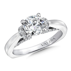Valina Round Straight Engagement Ring R9638W