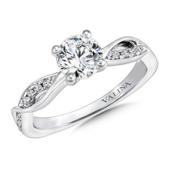 Valina Round Criss Cross Engagement Ring R9639W