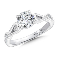 Valina Round Split Shank Engagement Ring R9640W