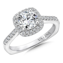 Valina Round Halo Engagement Ring R9642W