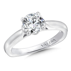 Valina Round Straight Engagement Ring R9643W
