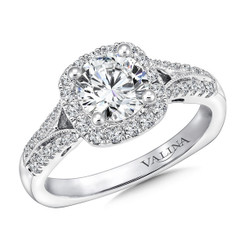 Valina Round Halo Engagement Ring R9648W