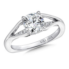 Valina Round Straight Engagement Ring R9650W