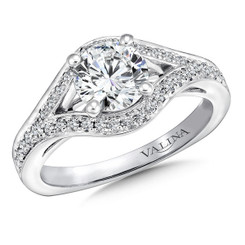 Valina Round Split Shank Engagement Ring R9651W