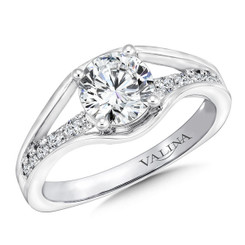Valina Round Straight Engagement Ring R9662W