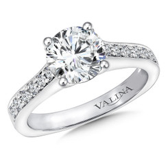 Valina Round Straight Engagement Ring R9664W