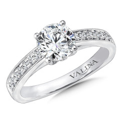 Valina Round Straight Engagement Ring R9665W