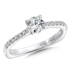 Valina Round Straight Engagement Ring RQ9626W