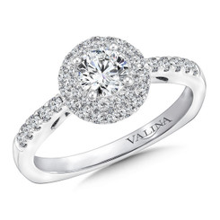 Valina Round Halo Engagement Ring RQ9644W