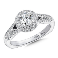 Valina Round Halo Engagement Ring RQ9645W