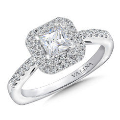 Valina Princess Cut Halo Engagement Ring RQ9646W