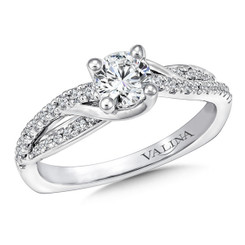 Valina Round Criss Cross Engagement Ring RQ9652W