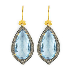 Suneera Odette Blue Topaz Earrings