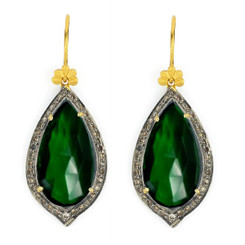 Suneera Odette Green Quartz Earrings