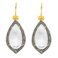 Suneera Odette White Quartz Earrings