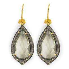 Suneera Odette Green Amethyst Earrings