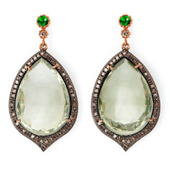 Suneera Odette 2 Green Amethyst Earrings