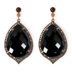 Suneera Odette 2 Black Spinel Earrings