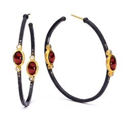 Suneera Lyla Ruby Hoop Earrings