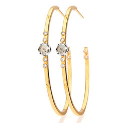 Suneera Sophia Yellow Gold Hoop Earrings