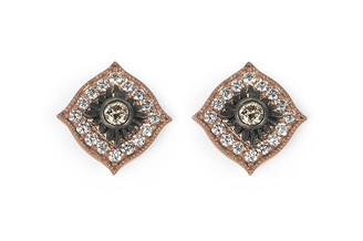 Suneera Esme Rose Gold Stud Earrings