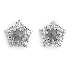 Suneera Pipa White Gold Stud Earrings