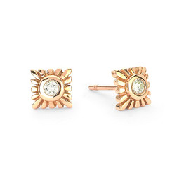 Suneera Selene Rose Gold Stud Earrings