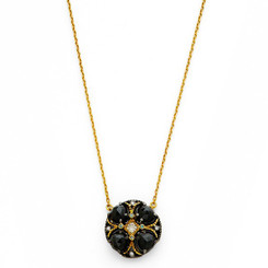 Suneera Poppy Black Spinel Necklace
