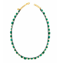 Suneera Ciara Emerald Layered Chain