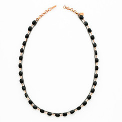 Suneera Ciara Black Spinel Layered Chain