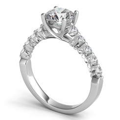 Sasha Primak Interwined Royal Prong Diamond Engagement Ring JS-ER220G