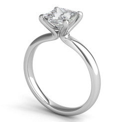 Sasha Primak Embrace Princess Solitaire Engagement Ring ER308G