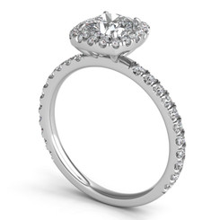 Sasha Primak Cushion Shaped Halo Pave Diamond Engagement Ring ER323G