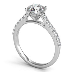 Sasha Primak Multi Prong Round Diamond Cathedral Engagement Ring ER360G