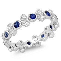 Beverley K Diamond and Sapphire Ring R10005-DS