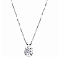 Charles and Colvard Forever One Moissanite Solitaire Pendant 652514