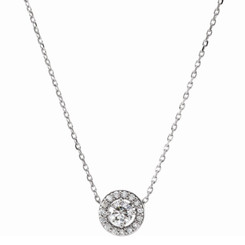 Charles and Colvard Forever One Moissanite Solitaire Pendant 85916