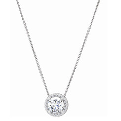 Charles and Colvard Forever One Moissanite Solitaire Pendant 652501