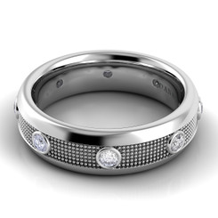 Danhov Pelote Polished Domed Diamond Band PM102-6