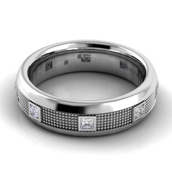 Danhov Pelote Polished Domed Diamond Band PM105-6