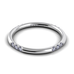 Danhov Classico Polished Round Diamond Band CB103